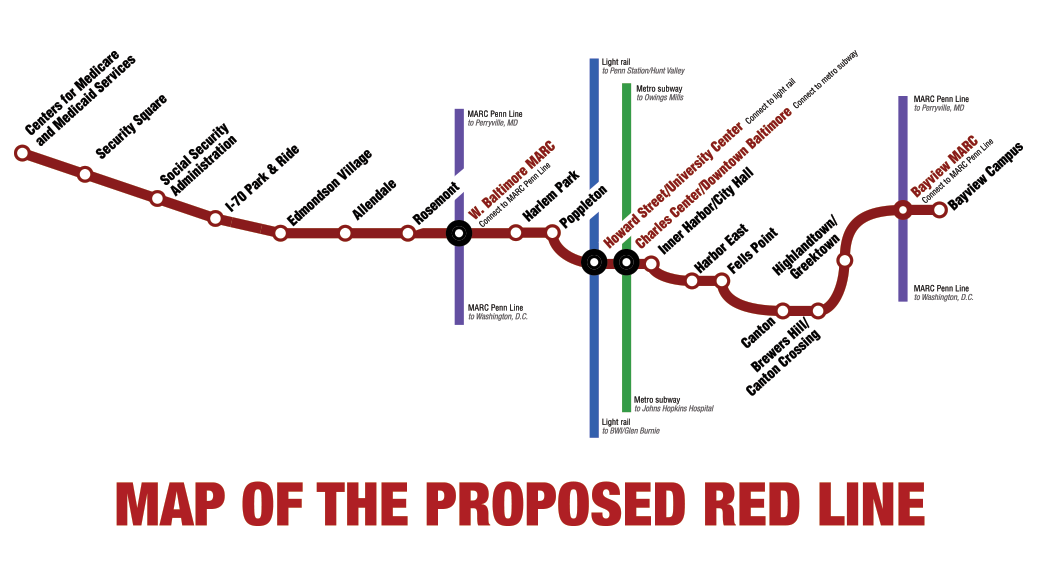map of the Red Line