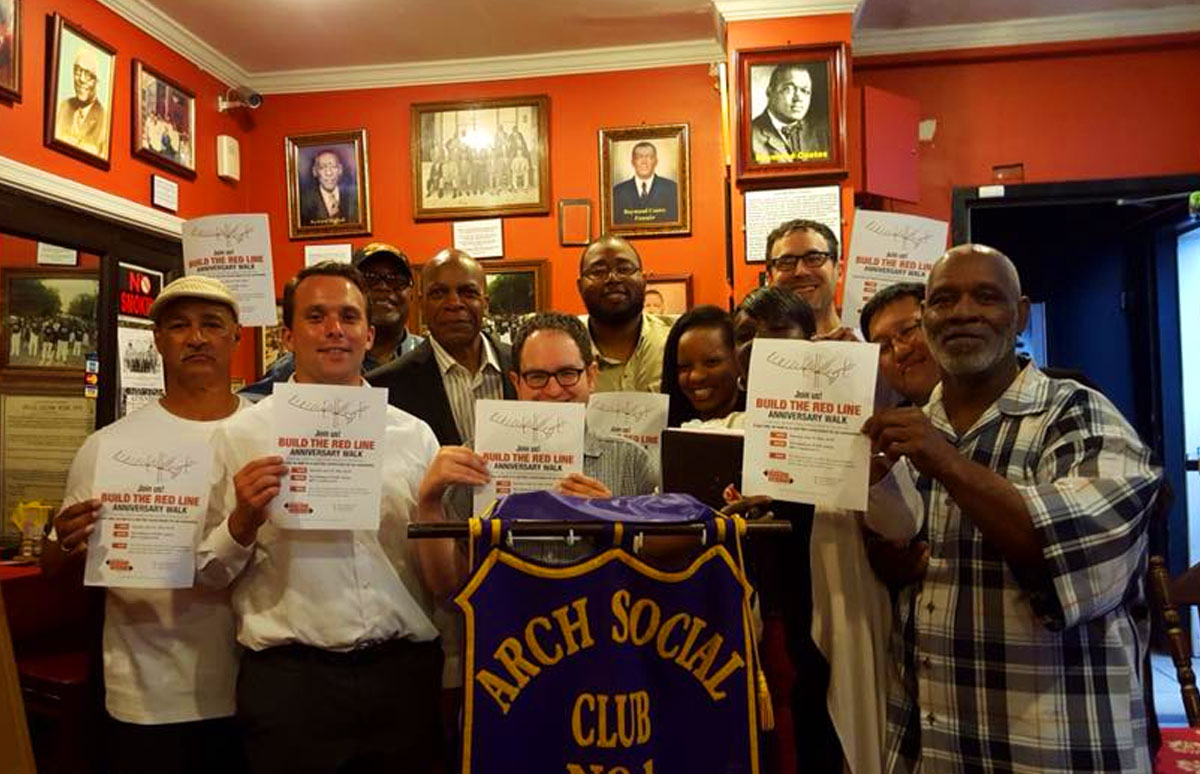 coalition members meeting at Arch Social Club on North Avenue