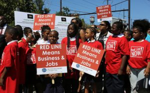 Red Line supporters