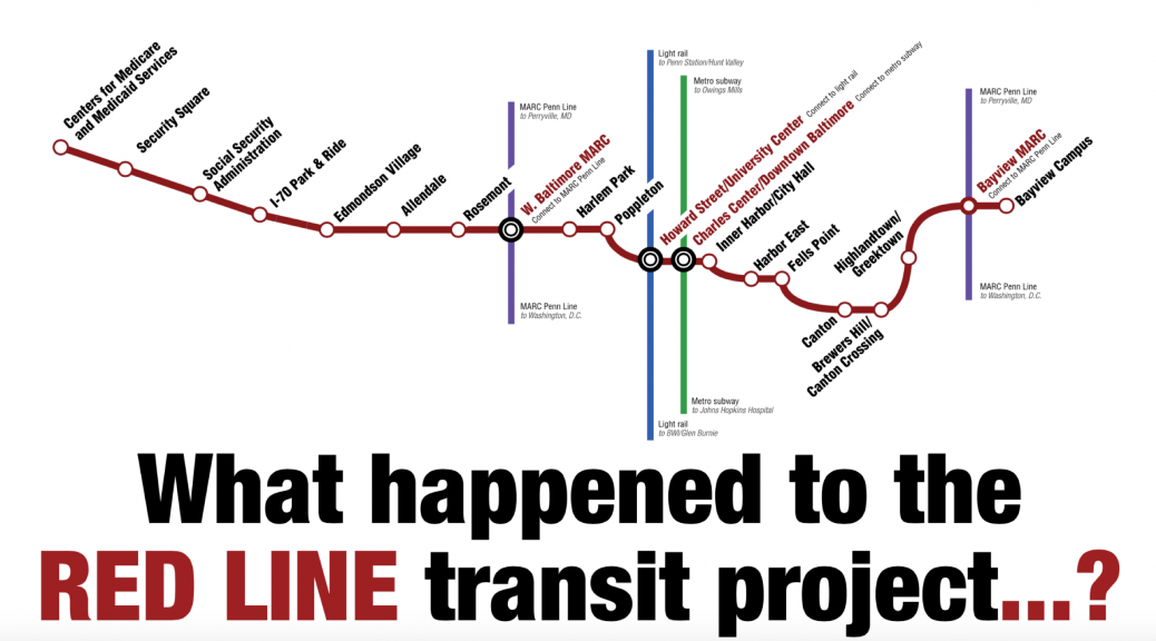 What happened to the Red Line transit project?